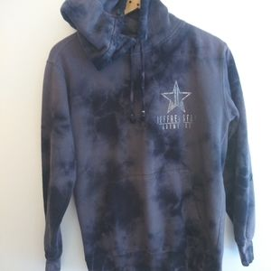 Jeffree Star cosmetics tie-dye logo sweatshirt